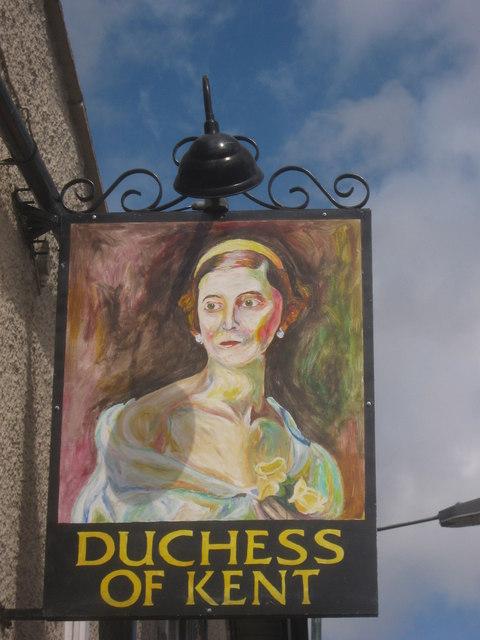 Duchess of Kent Pub Sign