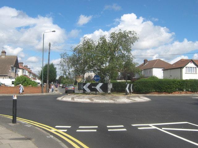 Roundabout on Brampton Road