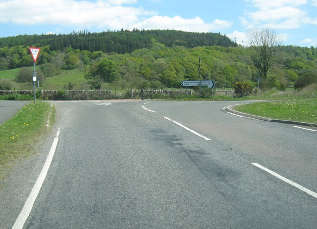 New Galloway Road at the junction with the A712