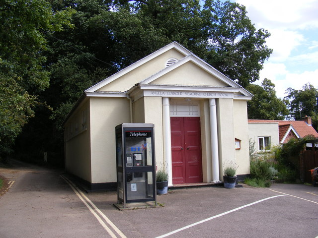 Angela Cobbold Memorial Church Room & Telephone Box