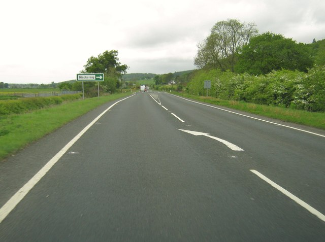 Approaching the turning to Blackcraig