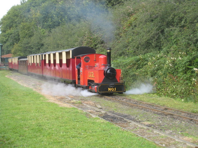 A miniature train at Lappa Valley Steam Railway