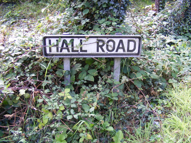 Hall Road sign