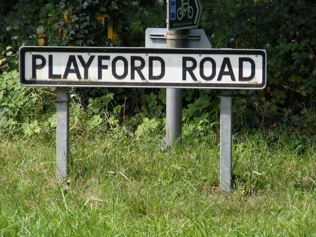 Playford Road sign