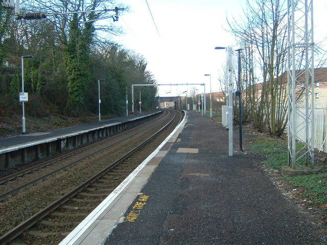 Woodhall railway station, looking WNW