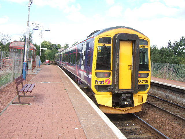 Summerston railway station, looking West