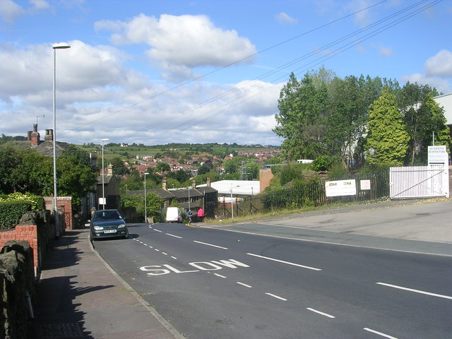 Silver Royd Hill - viewed from Silver Royd Drive