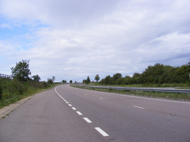 The A12 looking towards Marlesford