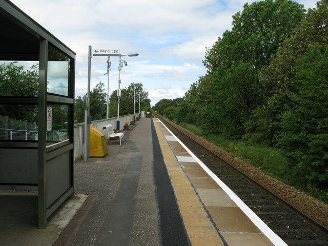 Kilmaurs railway station, looking North