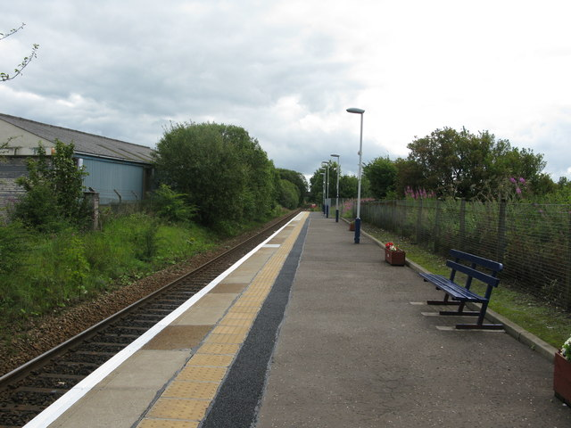 Kilmaurs railway station, looking South