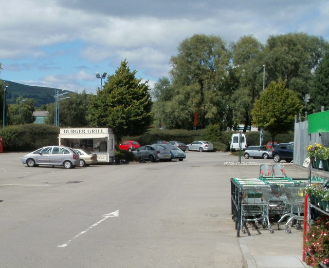 Burger Grill in Homebase car park, Cwmbran