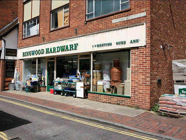 Ringwood Hardware shop front, Meeting House Lane