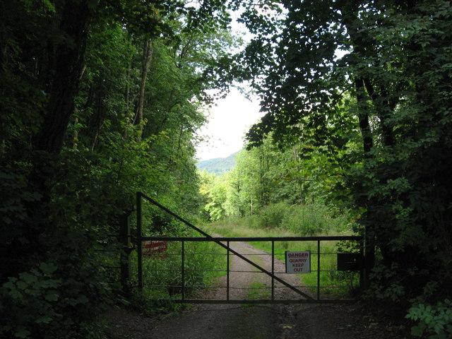 Gateway to Tintern Quarry
