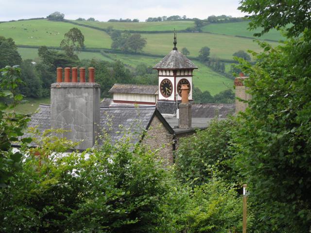 Roofs and clocktower, Tuckenhay Mill