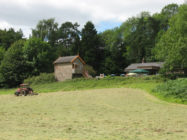 Riverside meadow near the old station at Tintern