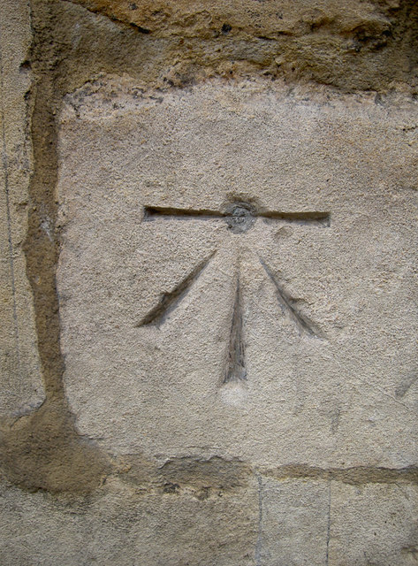 Bolt mark in the wall of St John on the Wall