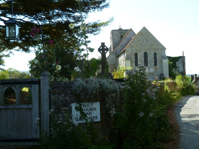 Church and gateway in Amberley