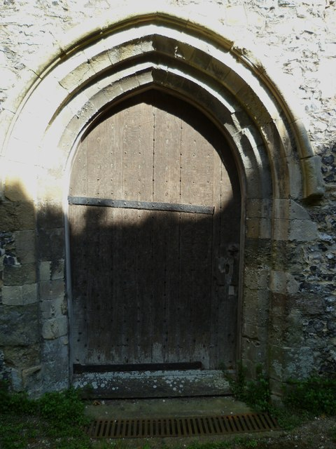 The tower door at Amberley church