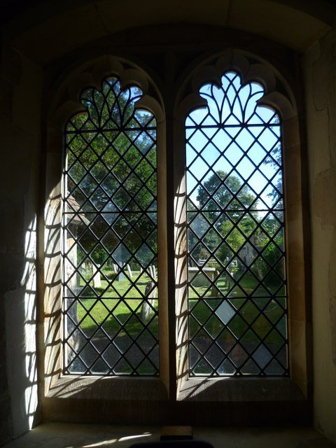 Windows in the south wall of Amberley church (1)