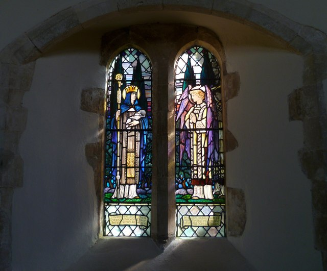 Windows in the south wall of Amberley church (2)