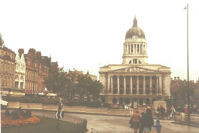 Market Square, Nottingham in 1984
