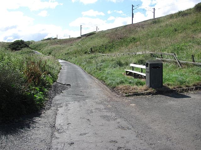 Coast path, leaving Spittal