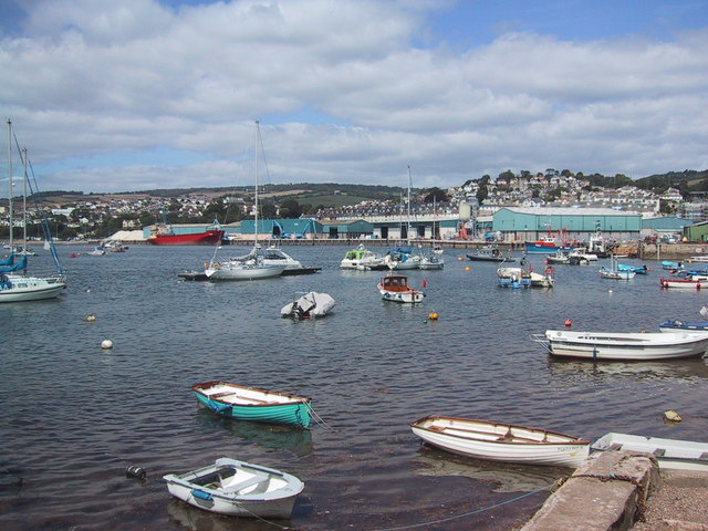 Boatyards by the Teign estuary