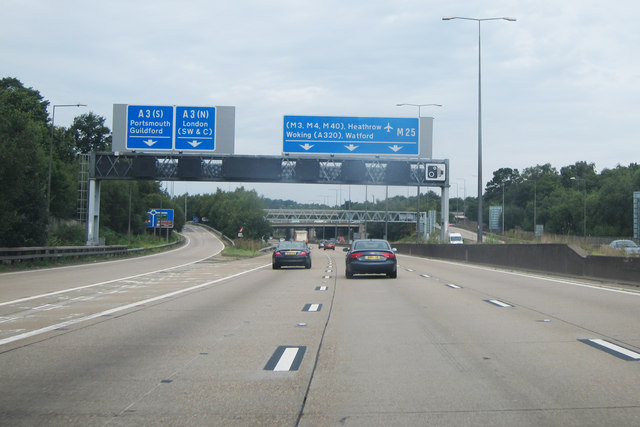 M25 past junction 10
