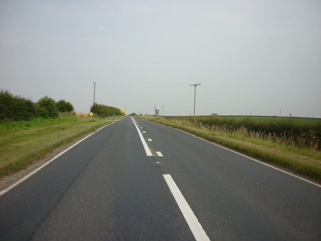 Looking north along the B6265
