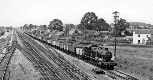 Up freight approaching Magor