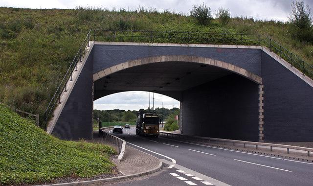 A bridge over the A57