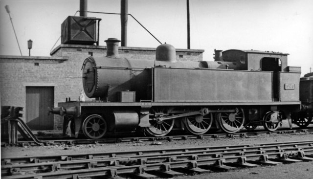 Alexandra Dock 2-6-2T at Cardiff Canton Locomotive Depot