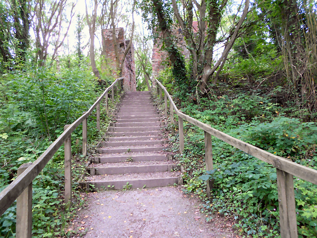 Steps at Grosmont Car Park