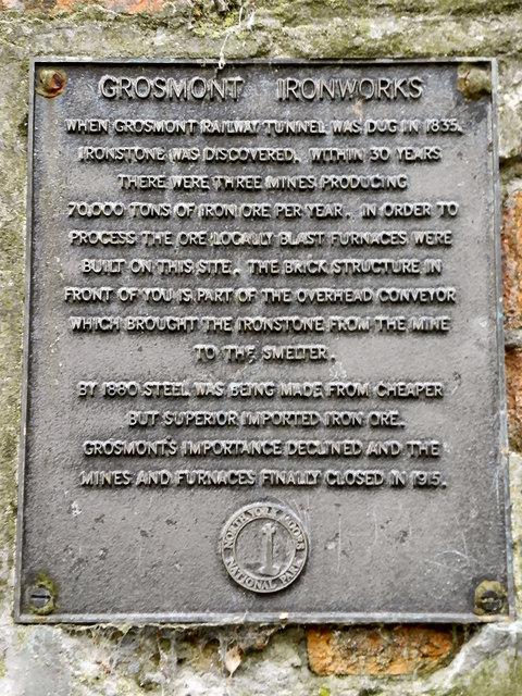 Grosmont Ironworks (plaque)