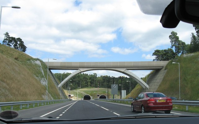 Approaching the new Hindhead Tunnel
