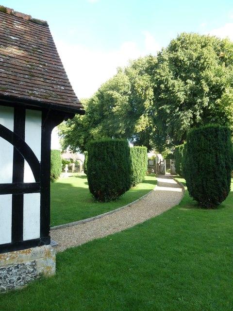 All Saints, East Stratton: churchyard (3)