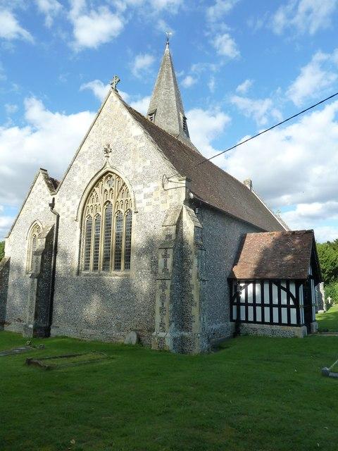 All Saints, East Stratton: western aspect