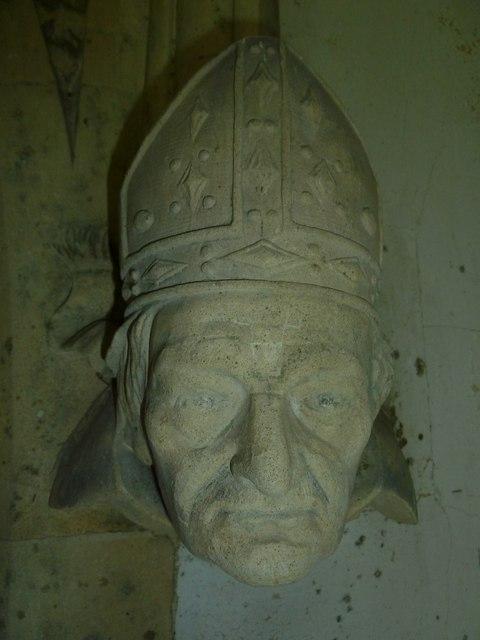 All Saints, East Stratton: gargoyle (a)