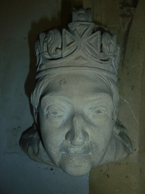 All Saints, East Stratton: gargoyle (b)