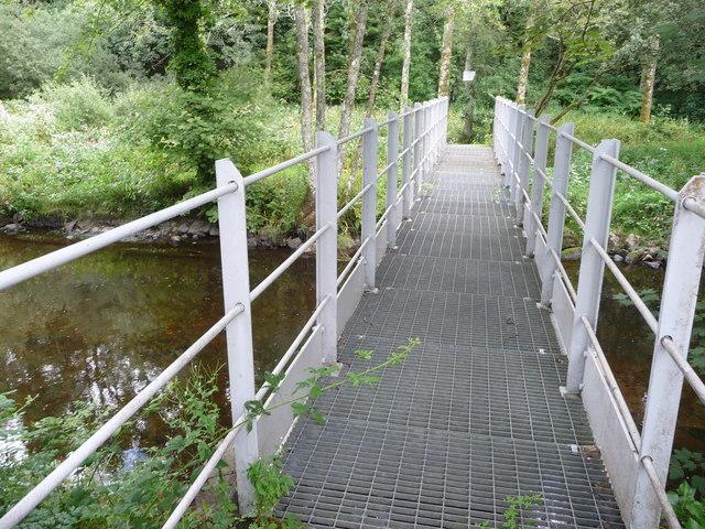 Footbridge in the Treffgarne Gorge