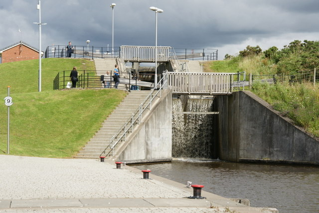 Locks on the Union Canal above the Falkirk Wheel