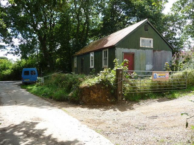 Corrugated village hall in Treffgarne