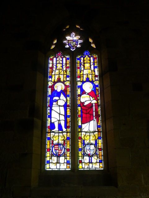 Stained glass window, St Paul's Church