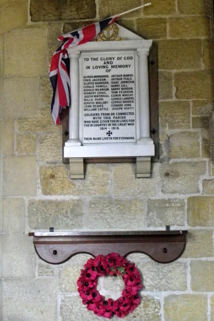 War Memorial, St Paul's Church
