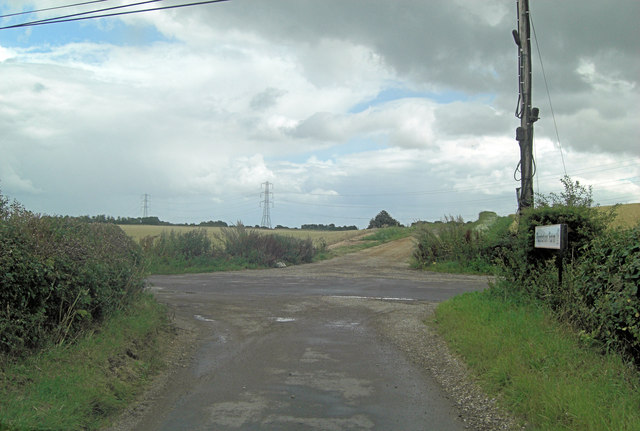 Rectory Road junction at Sawyer's Grave