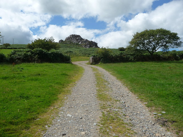 Farm track below Poll Carn