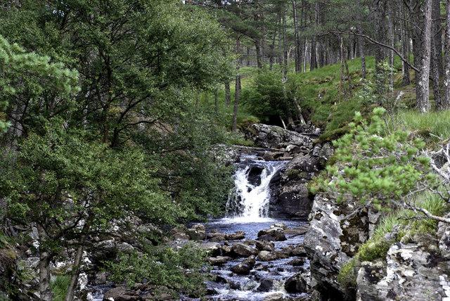 Wee falls in Glen Cassley