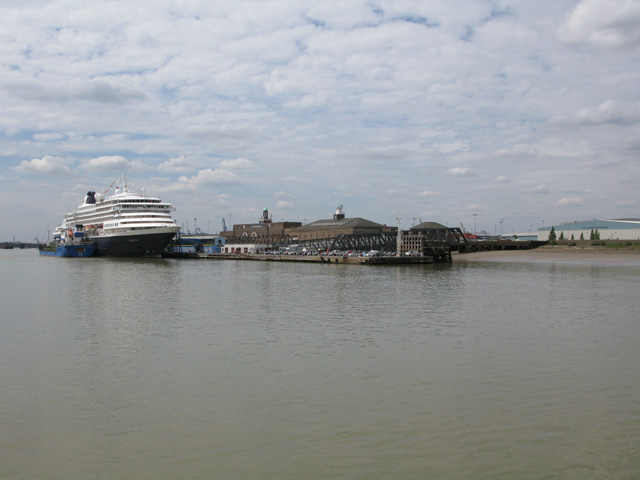Approaching London International Cruise Centre, Tilbury