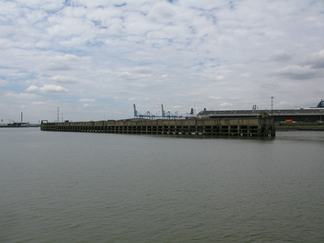 Jetty at Tilbury docks