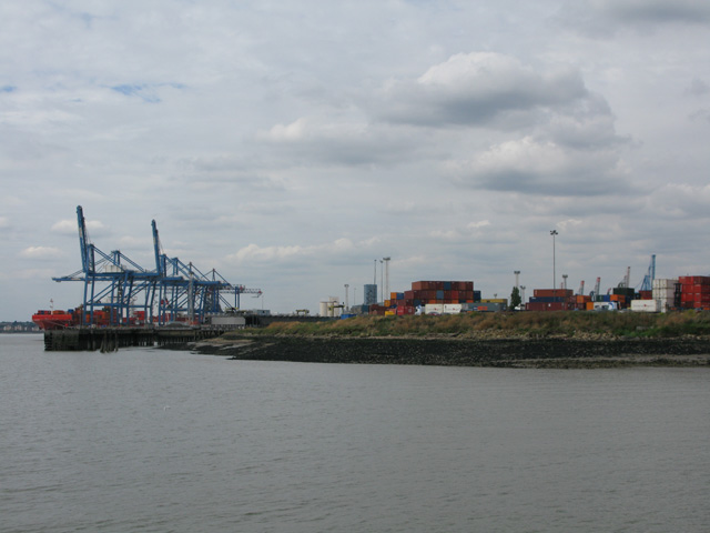 Containers at Tilbury Docks